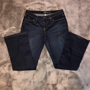 NY&Co dark wash curvy bootcut jeans size 12